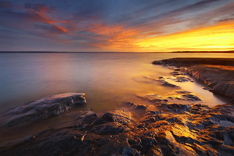 Last Light on McKay Island by tfavretto