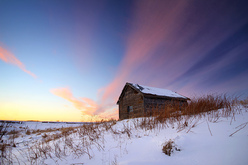 Snowy Shack by tfavretto