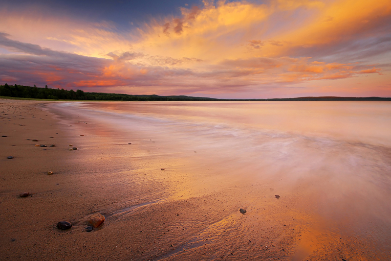 Orange Skies at Pancake Bay by tfavretto
