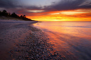 Crisp Point Sunset by tfavretto