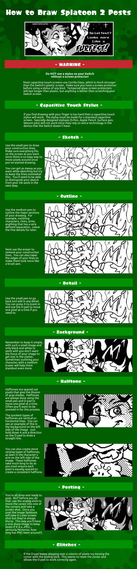 How to Draw Splatoon 2 Posts