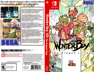 Wonder Boy the Dragon's Trap box art by JeffCross