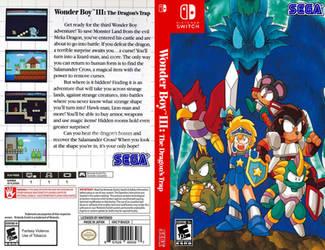 Wonder Boy the Dragon's Trap box art (inside) by JeffCross