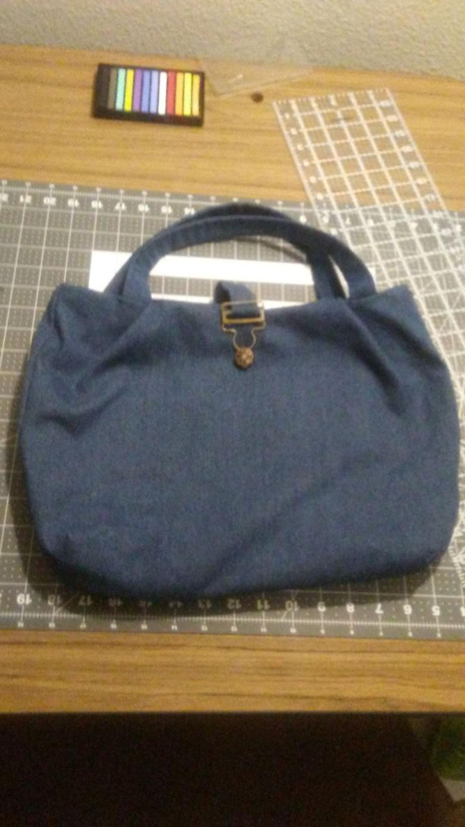 First try at making a purse. by korriken