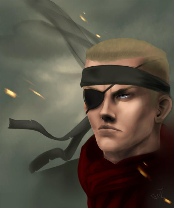 MGS3 Ocelot cosplaying as Snake by miimystery