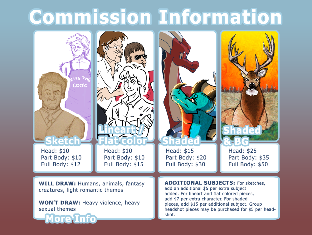 Commissions NOW OPEN!!! by paulmccartneys
