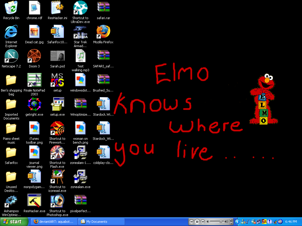 My desktop by aquabot