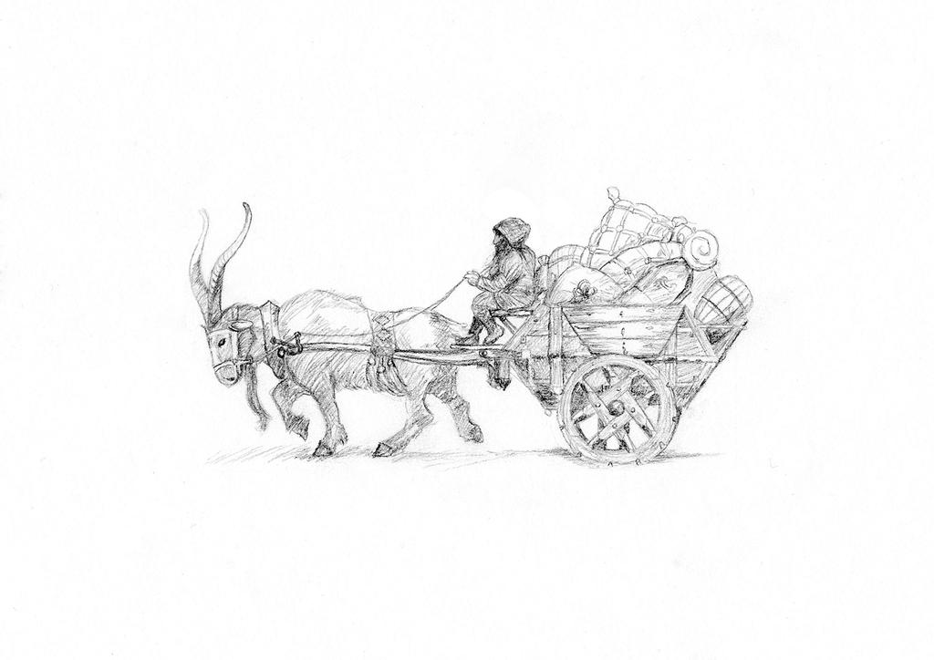 Dwarf in the goat carriage by Maweno