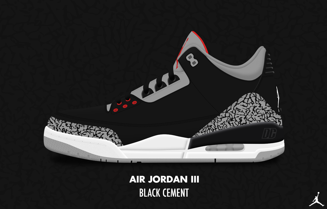 Air Jordan III 'Black Cement' by DCrossover11 ...