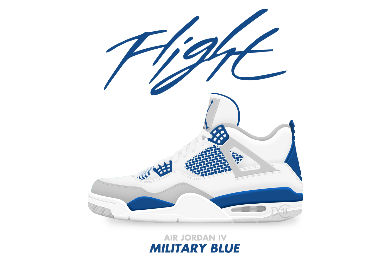 Air Jordan IV Military Blue By DCrossover11