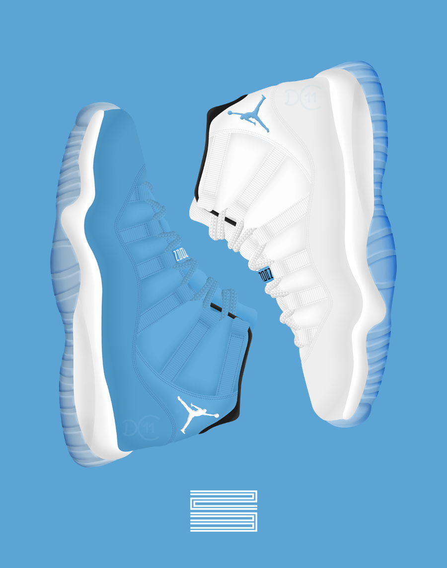 ... Air jordan XI Pantone/Columbia by DCrossover11