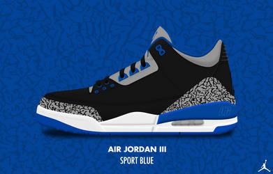 Air Jordan III 'Sport Blue' by DCrossover11