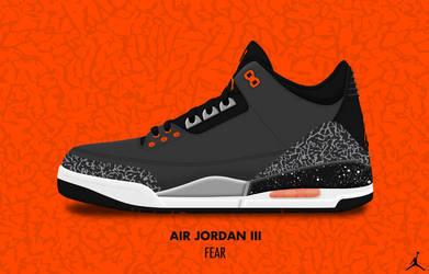 Air Jordan III 'Fear' by DCrossover11