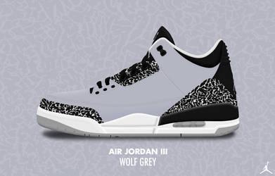 Air Jordan III 'Wolf Grey' by DCrossover11