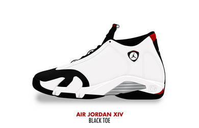 Air Jordan XIV 'Black Toe' by DCrossover11