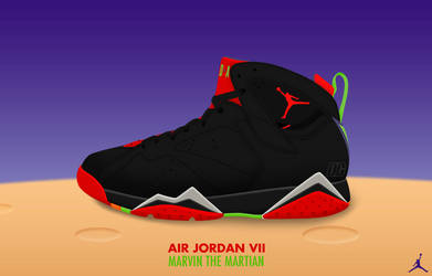 Air Jordan VII 'Marvin the Martian' by DCrossover11