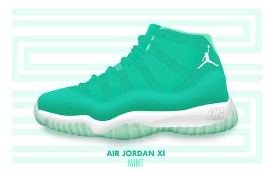 Air Jordan XI 'MINT' by DCrossover11