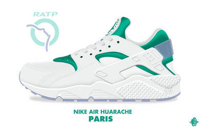Nike Air Huarache 'PARIS' by DCrossover11