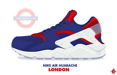 Nike Air Huarache 'London' by DCrossover11