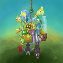 'birds' jail? by cristalreza
