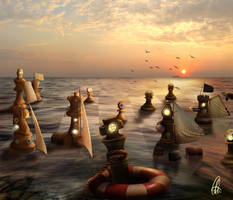 Battle Sea Chess by cristalreza