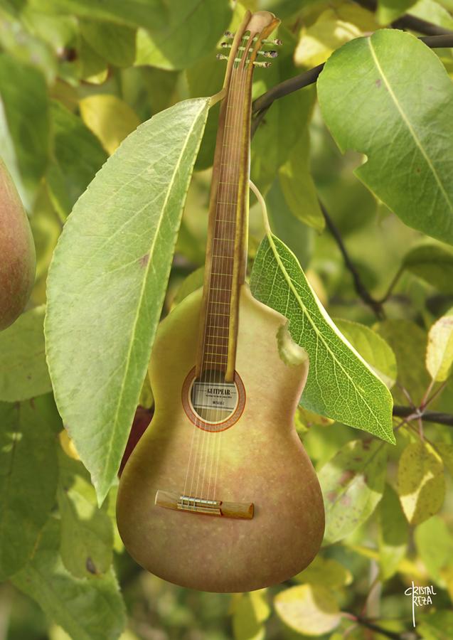 Guitar pear by cristalreza