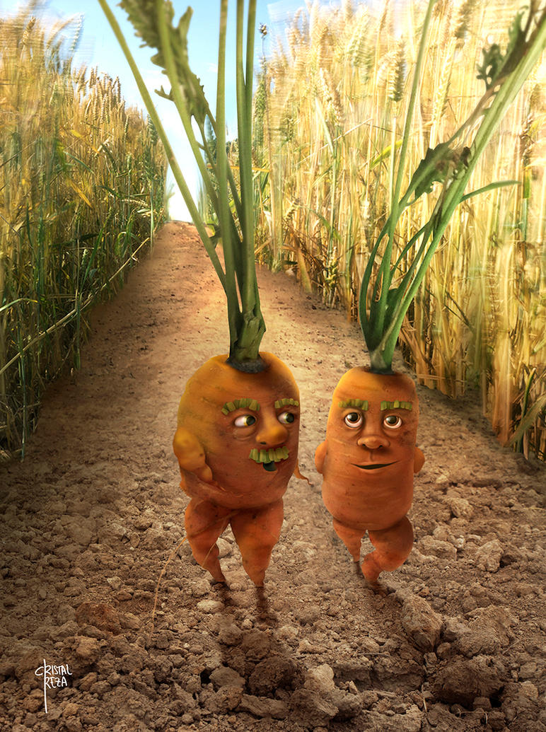 Alive Carrots by cristalreza