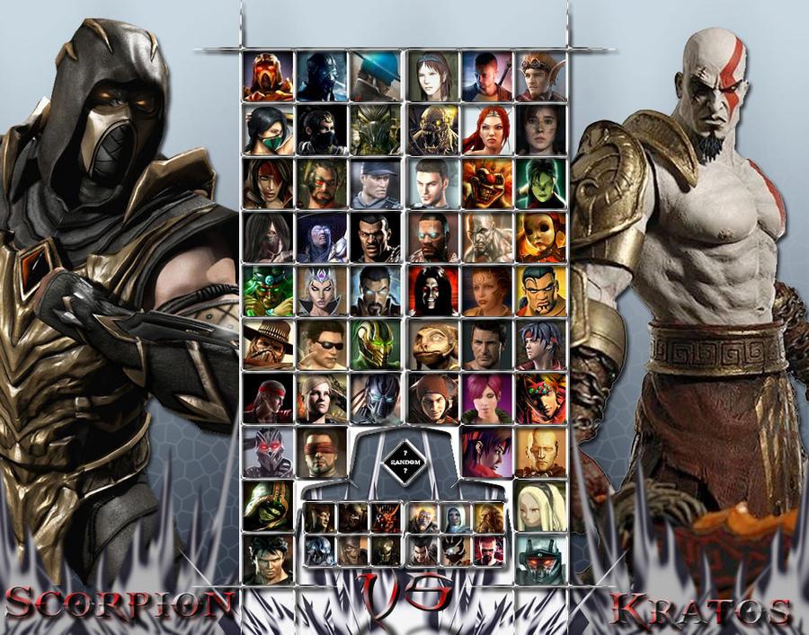Mortal Kombat Vs Sony Universe Character Select by