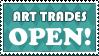 Stamp: Art Trades OPEN by AaronBelli