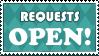 Stamp: Requests OPEN by AaronBelli