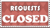 Stamp: Requests CLOSED by AaronBelli