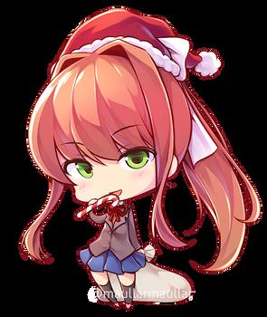 Christmas Monika chibi