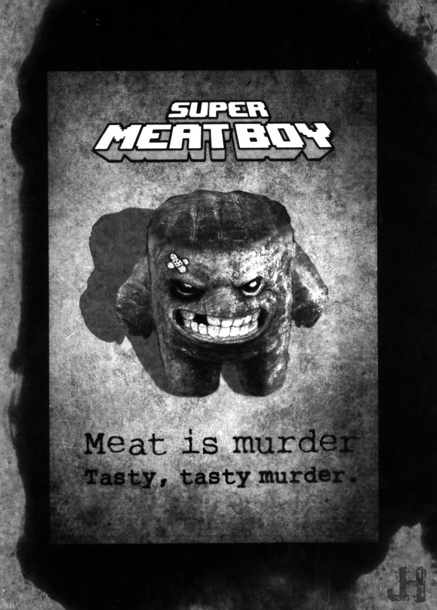 Vintage Super Meat Boy by juhoham