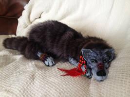 Blue Wolf Floppy Doll by darkangellord69