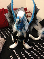posable frost dragon by darkangellord69