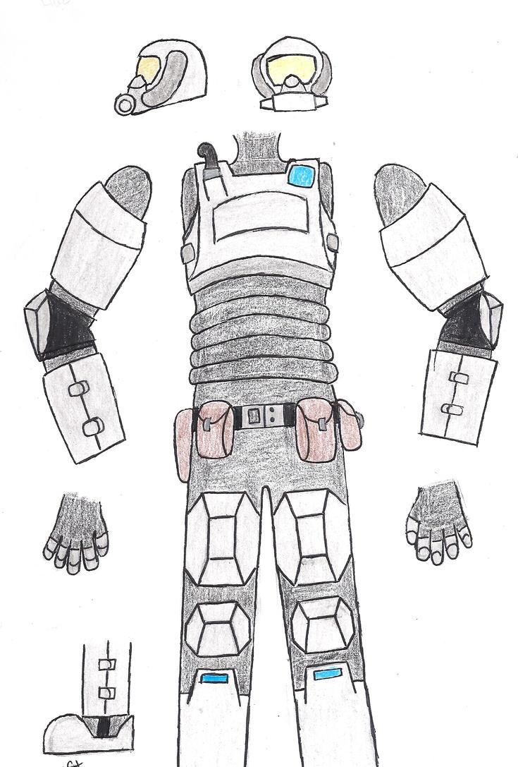 Haz-Suit (Combat Model) by MasterofWolves99