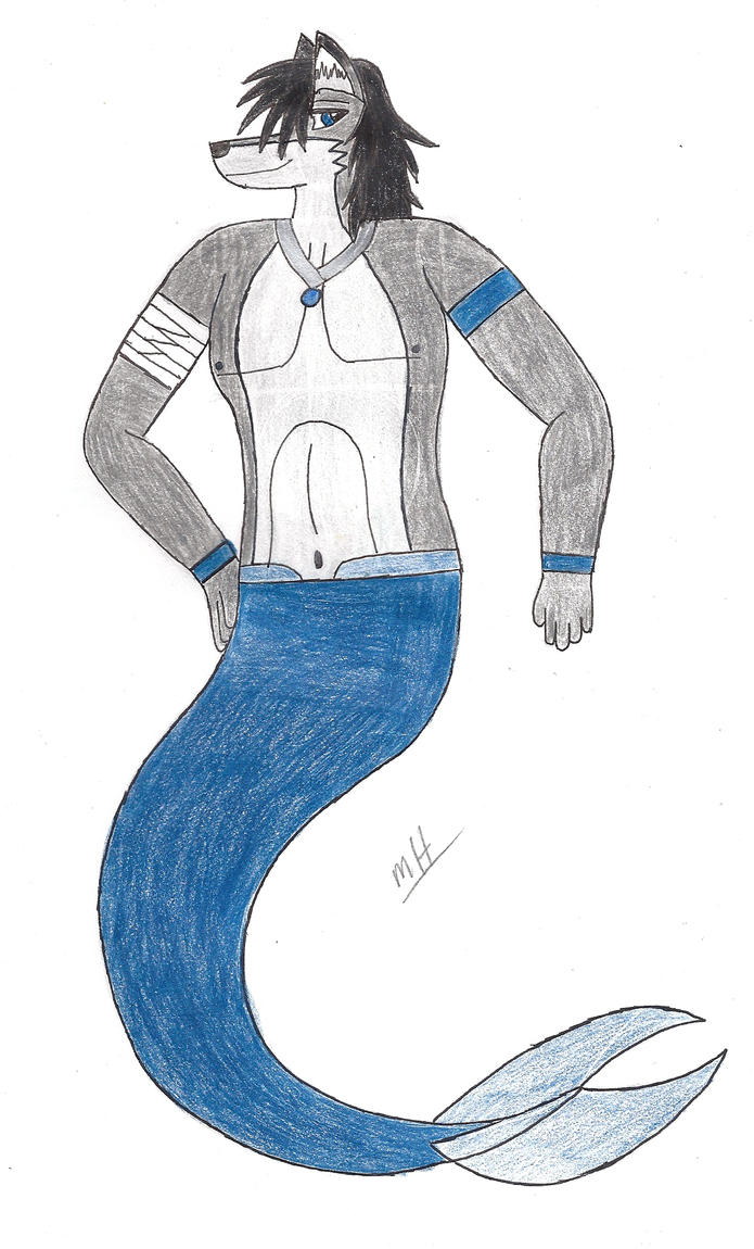Maku's Merwolf form by MasterofWolves99