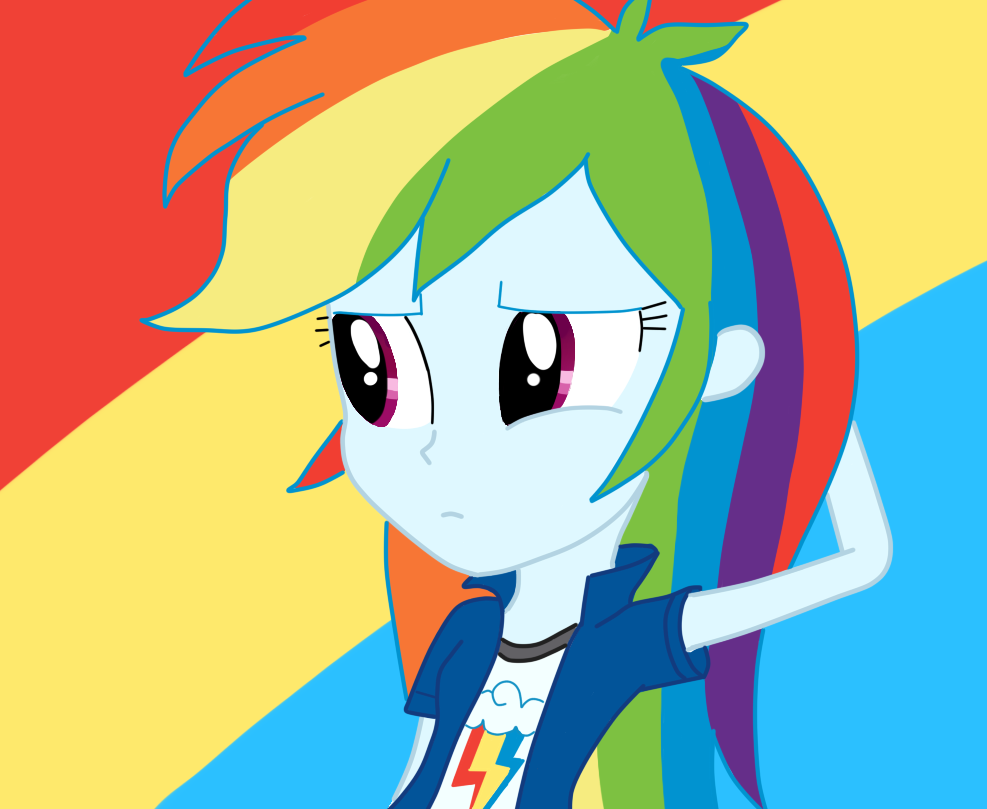 how to draw equestria girl rainbow dash