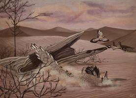 Velociraptor Takes a Dive by KirbyniferousRegret