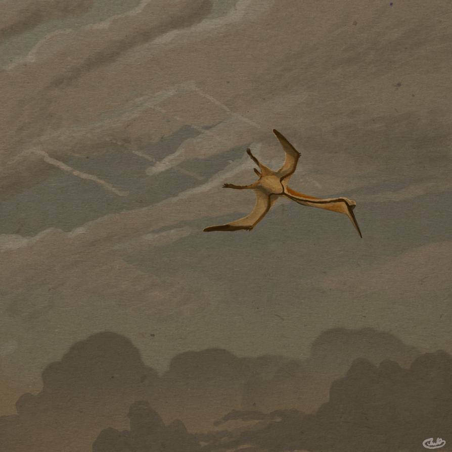 Quetzalcoatlus Pierces a Lonely Sky by KirbyniferousRegret