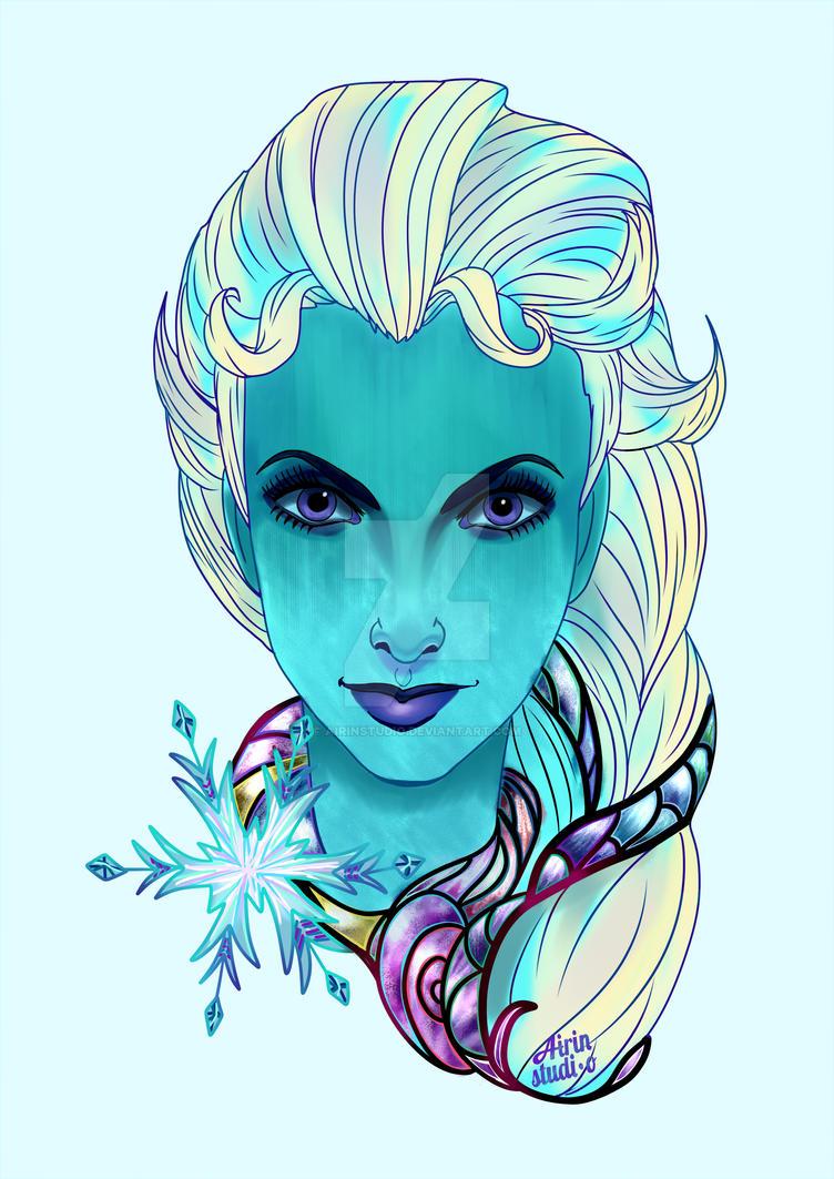 Elsa Portrait by AirinStudio