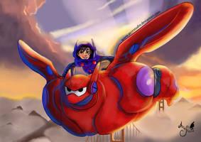 Big Hero 6 - Baymax and Hiro by AirinStudio