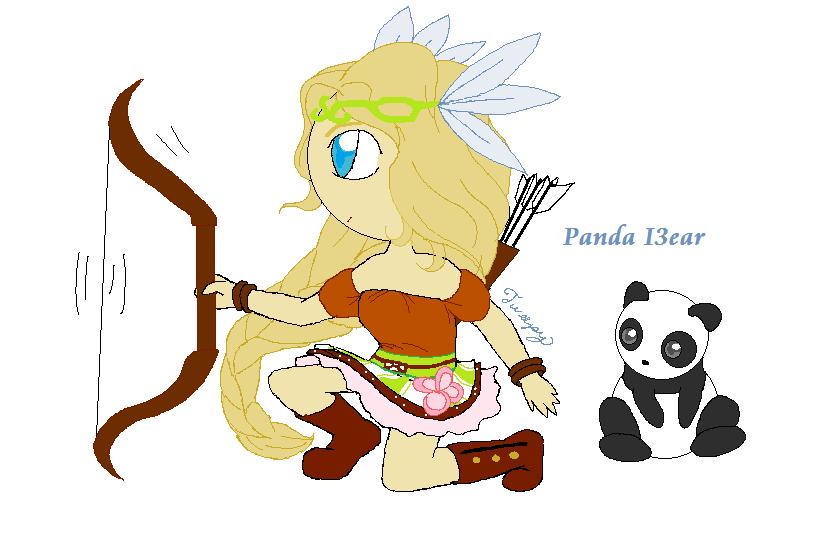 Panda 13ear by tweepy