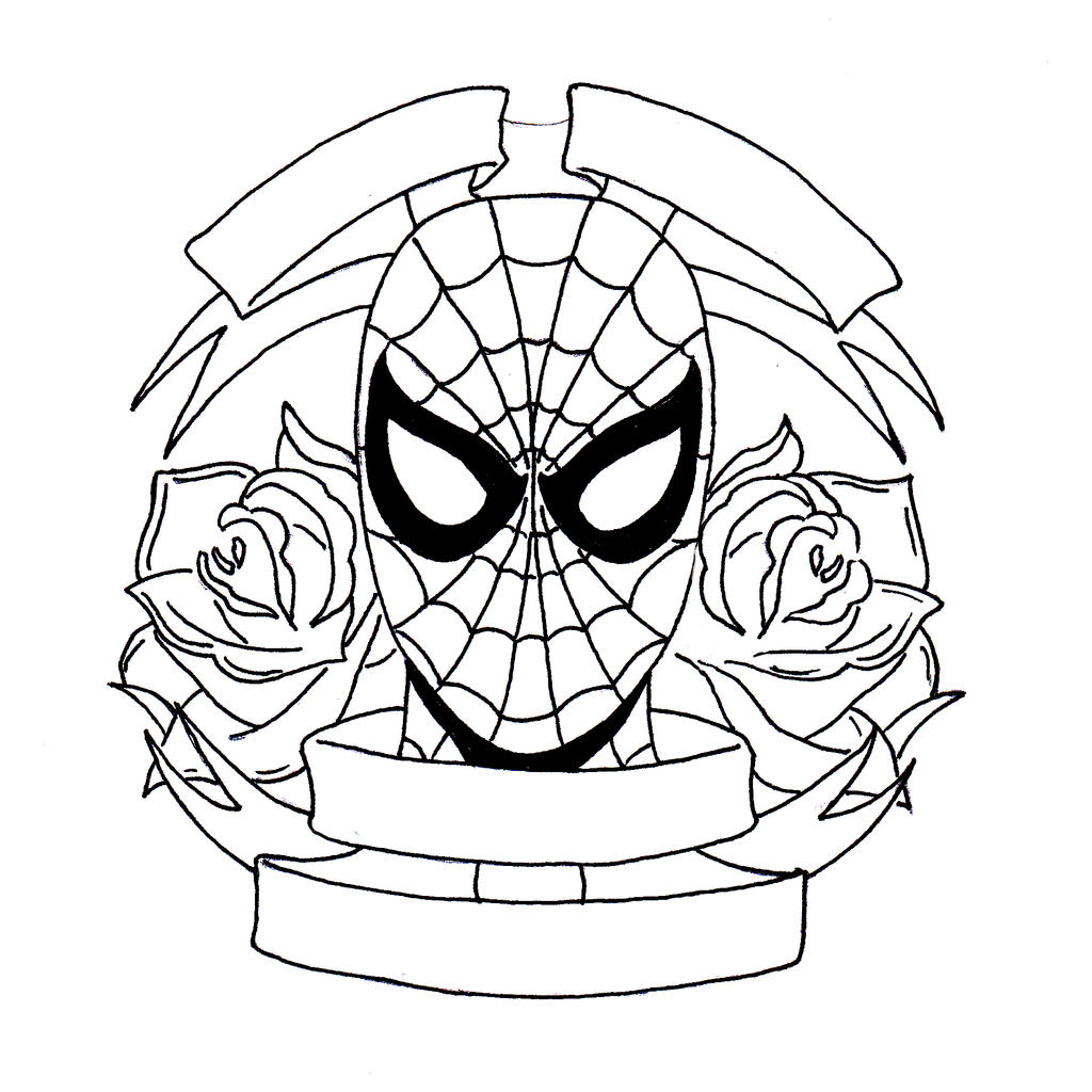 Spiderman Face Line Drawing : Spider man by rp d on deviantart