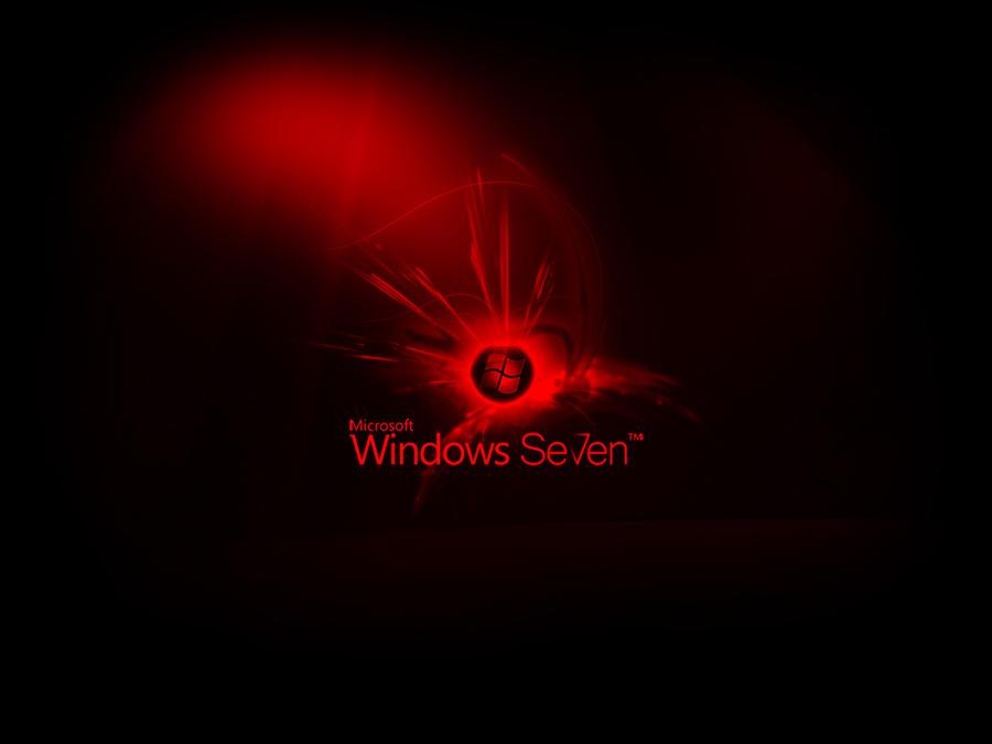 wallpaper windows black. Windows 7 Wallpaper Red Black