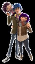 The Huntingtons (MacKenzie, Owen, and Zoe) (PNG)