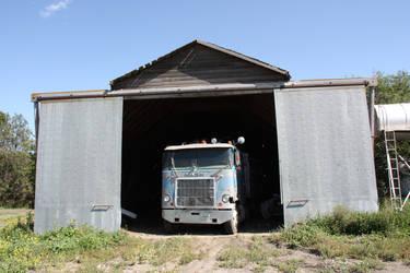 Old Mack in Barn