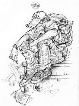 Sketsa Tukang Coret-coret