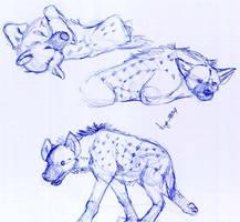 Hyena Study 3 by Dogz