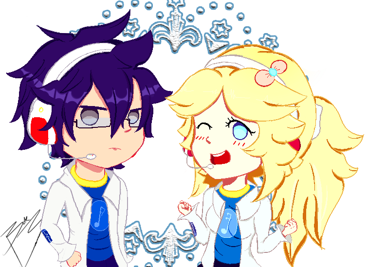 Seion Fuku and Shokoe Asami Pixel Art by BOK-san